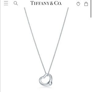 Tiffany's open heart necklace